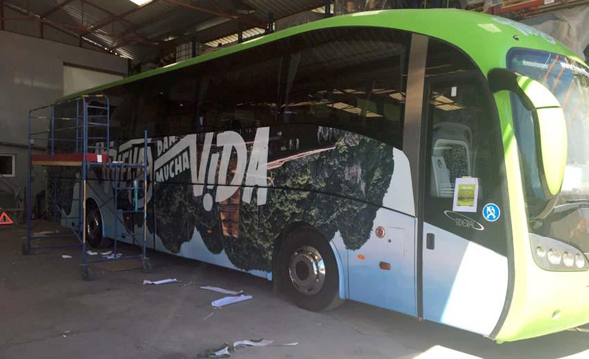 rotulacion autobus con vinilo automocion